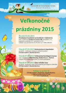 Veľkonočné prázdniny 2015