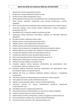 Návrhy tém záverečných bakalárskych prác BOKI