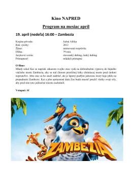 Kino na mesiac apríl 2015 Œ kopie