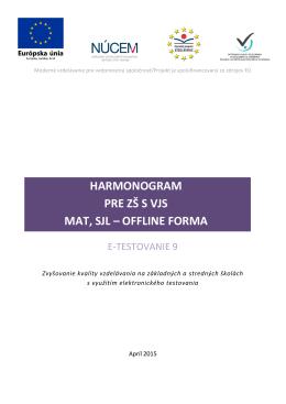 E-T9 Harmonogram 15.04.2015 offline/ZS s VJS
