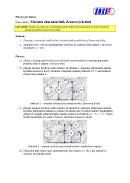 Meranie charakteristik Zenerovych diod