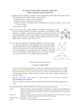 64. ročník Matematickej olympiády, 2014/2015 Úlohy