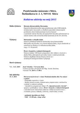 Ponitrianske múzeum - máj 2015