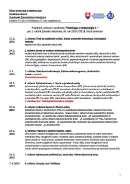 Dokument 5. - Slovenská zdravotnícka univerzita