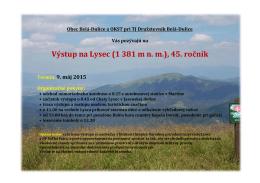 Výstup na Lysec (1 381 m n. m.), 45. ročník - KST