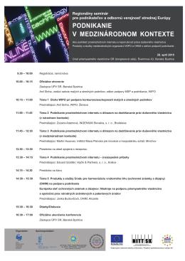 Program seminára - Úrad priemyselného vlastníctva Slovenskej