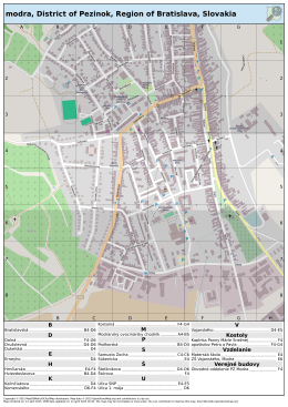 modra, District of Pezinok, Region of Bratislava