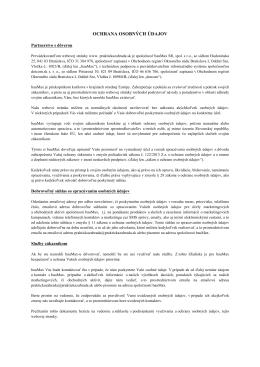 Ochrana os. údajov - praktickazahrada.sk