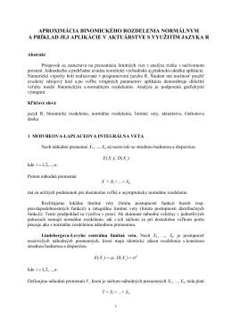 aproximácia binomického rozdelenia normálnym a príklad jej
