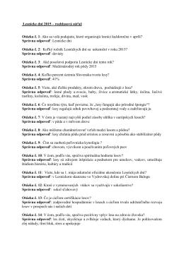 Otázky pre RTVS k lesníckym dňom 2015