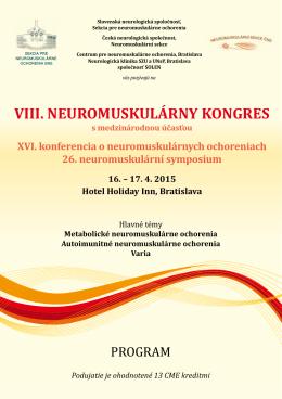 Finální program - Sekce neuromuskulárních chorob České