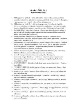 ZBS 2015 Nukleárna medicína