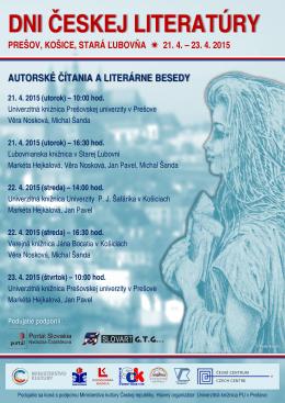 Dni českej literatúry - Univerzitná knižnica PU