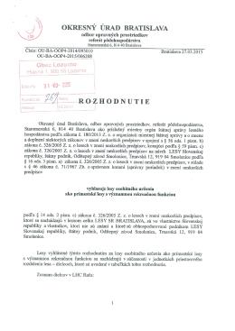 Dokument s Rozhodnutím OÚ vo formáte PDF na stiahnutie.
