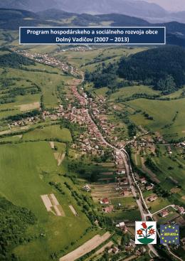 Program hospodárskeho a sociálneho rozvoja obce Dolný Vadičov