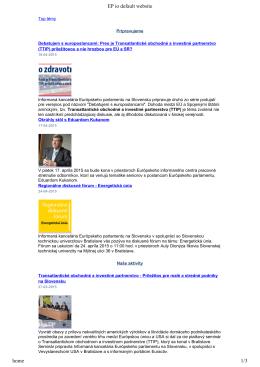 EP io default website home 1/2 - Informačná kancelária Európskeho