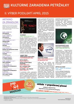 Newsletter KZP - apríl 2015 II.