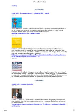 EP io default website home 1/3 - Informačná kancelária Európskeho