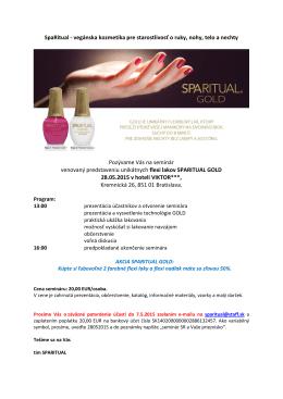 SpaRitual - vegánska kozmetika pre starostlivosť o ruky, nohy, telo a