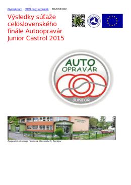Výsledky súťaže celoslovenského finále Autoopravár Junior Castrol