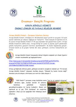 Erasmus+ Gençlik Programı - Eurodesk