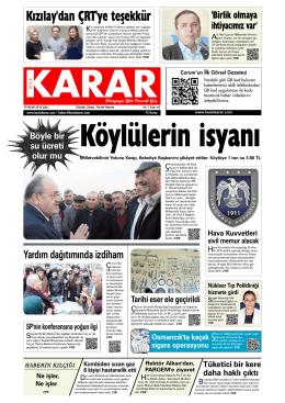 Köylülerin isyanı - Kesin Karar Gazetesi