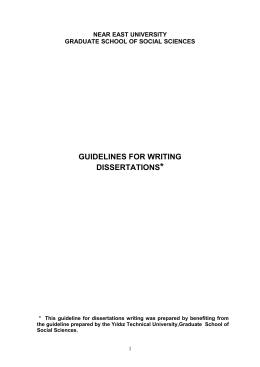 Guidelines for Writing Dissertations