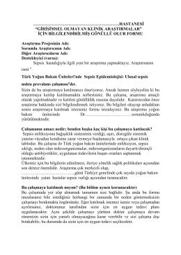 hastanesi - Türk Yoğun Bakım Derneği