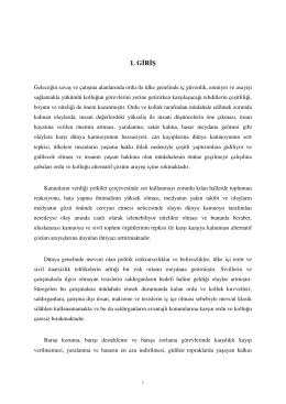 1. G R Ş - Ankara Üniversitesi Açık Erişim Sistemi