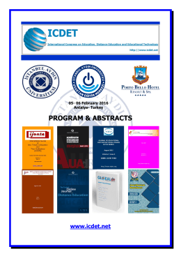 ıcdet 2016 program & abstracts - International Congress on