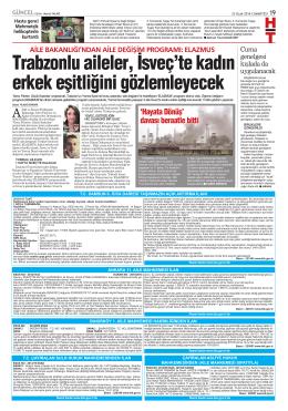 Trabzonlu aileler, İsveç`te kadın erkek eşitliğini