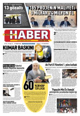 sayfa 1-.indd - Batman Haber Gazetesi