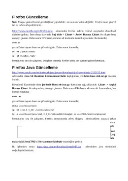 Firefox Güncelleme Firefox Java Güncelleme