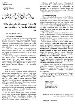 Helâl - Haram Duyarlılığı