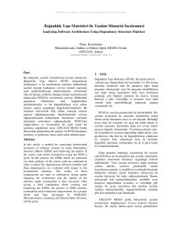 Bağımlılık Yapı Matrisleri ile Yazılım Mimarisi ncelenmesi