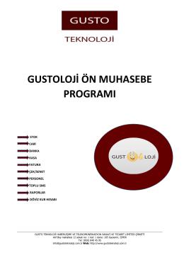 gustoloji ön muhasebe programı