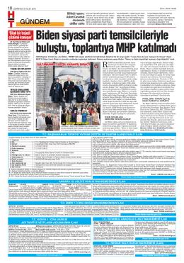 Biden siyasi parti temsilcileriyle buluştu, toplantıya MHP katılmadı