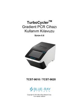 TurboCycler Gradient PCR Cihazı Kullanım Kılavuzu
