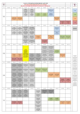 Bilgisayar Mühendisliği Güz Yarıyılı Bütünleme Sınav Programı