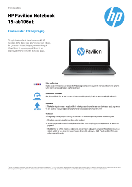 PC Consumer EMEA Notebook features
