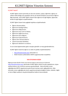 K12NET Eğitim Yönetim Sistemi