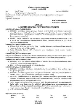 1.a.l. tertip komitesi kararı