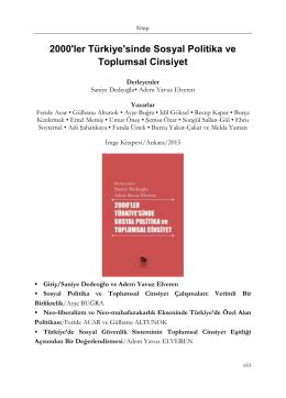 2000`ler Türkiye`sinde Sosyal Politika ve Toplumsal Cinsiyet