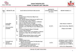 Sanayi Müdürlüğü - Ankara Ticaret Odası
