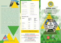 SYMPOSIUM LEAFLET for SWEMP 2016