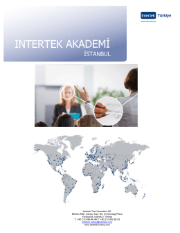 2016 Eğitim Programı İstanbul