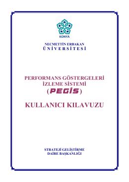 PEGİS Kullanıcı Kılavuzu - Necmettin Erbakan Üniversitesi