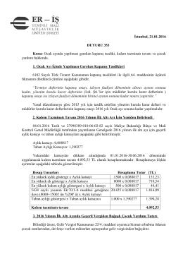 duyuru 353 - Eriş Yeminli Mali Müşavirlik Ltd. Şti.