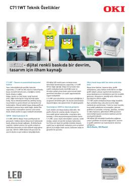 C711WT Teknik Özellikler BEYAZ - dijital renkli baskıda