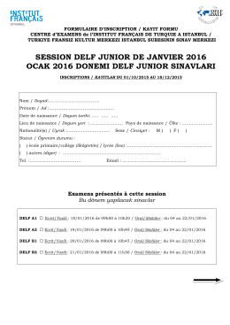 SESSION DELF JUNIOR DE JANVIER 2016